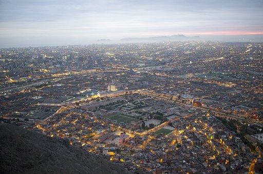 Lima, Cityscape, City, Sunset, Peru, Urban, Destination