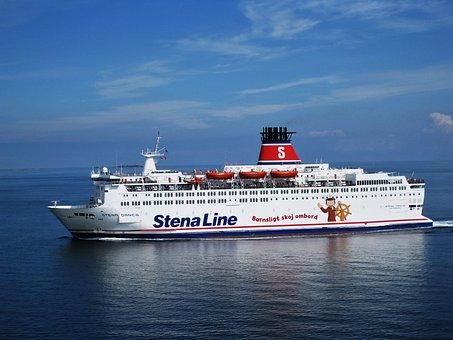 Stenafaehre, Sweden Ferry, Baltic Sea, Sea, Vacations