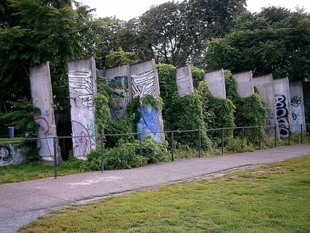 Wall, Berlin, Parts Of The Wall, Monument, Painted