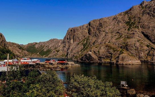 Lofoten, Sun, Sunny Day, Norway, Sea, Water, Norwegian