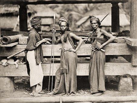 Batak, Warrior, Fighter, 1870, Black And White