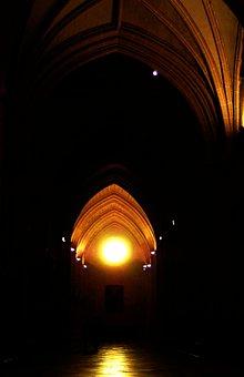 Cathedral, Palencia, Arcades, Shadow, Architecture, Art