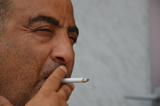 Man, Mediterranean, Smoking, Cigarette, Break, Rest