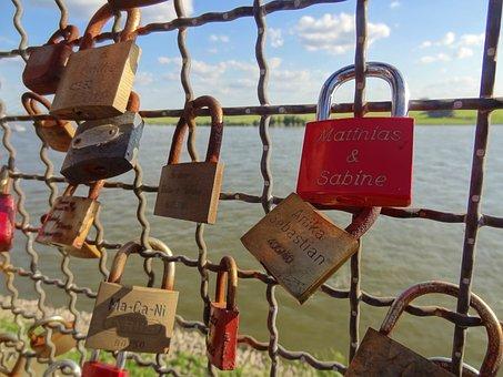 Luck Castle, Padlock, Love, Castle, Eternity, Rhine