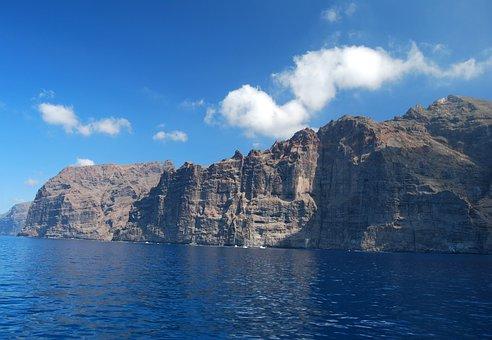 Coastline, Tenerife, Los, Gigantes, Cliffs, Canary
