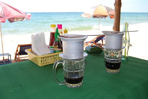 Vietnamese Coffee, Coffee Cup, Beach Restaurant