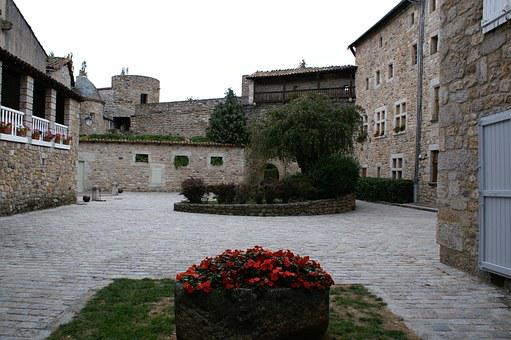 Old Building, Stones, French Village, Courtyard