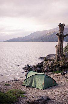 Camping, Scotland, Lake, Nature, Off The Grid, Europe