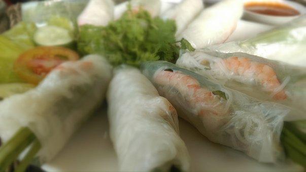 Spring Rolls, Food, Vietnam, Vietnamese, Rolls, Cooking
