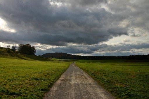 Lane, Weather, Rain, Forward, Rain Clouds, Grey