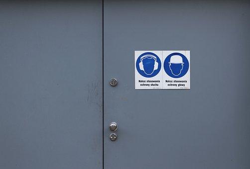 The Door, Hall, Designation, Sign, Icon, Building, Mark