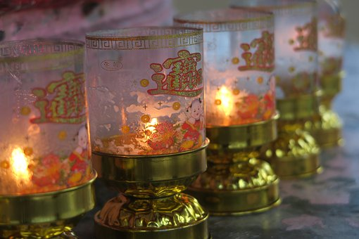 Candles, Chinese Temple, Light, Hope