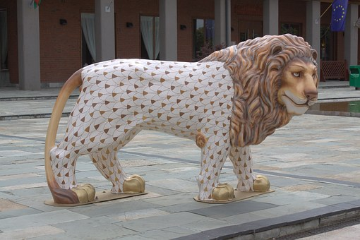 Lion, Porcelain, Museum, Hungary