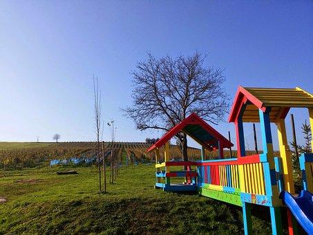 Playground, Outdoor, Colorful, Vinarija Coner, Jabuceta