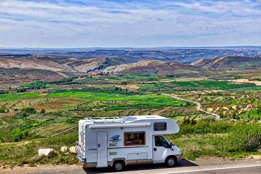 Motorhome, Landscape, Journey, Recreational, Freedom