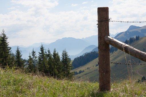 Mountains, Alpine, Upper Bavaria, Stempen, Fence
