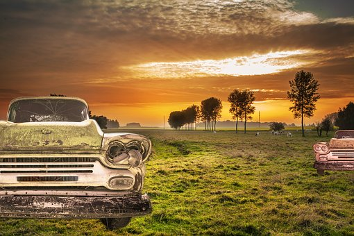 Car, Landscape, Nature, Field, Nature And Landscape
