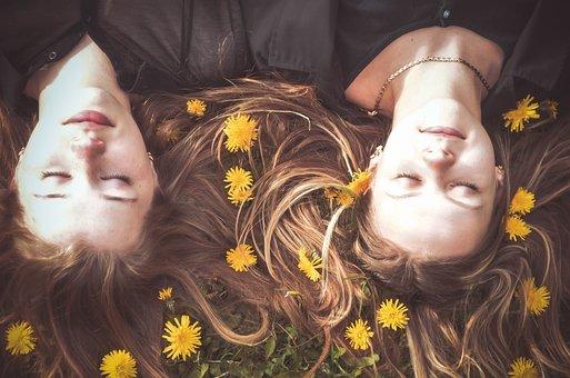 Girls, Girlfriend, Spring, Friends, Friendship, Nature