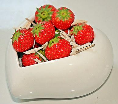Mother's Day, Strawberries, Red