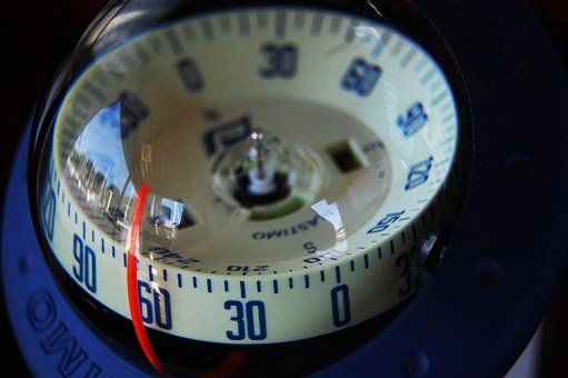 Compass, Sea, Ship, Compass Point, North, East, West