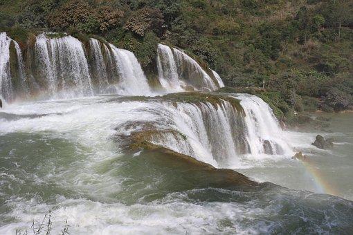 Waterfall, Water, Detian Falls, Detian, Vietnam