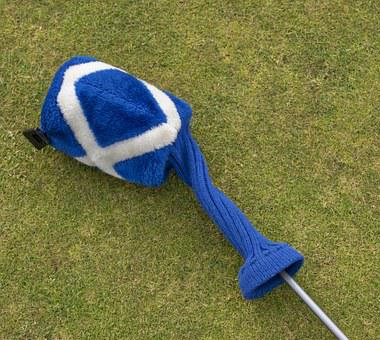 Golf, Headcover, Saltire, Blue, White, Symbol, Country