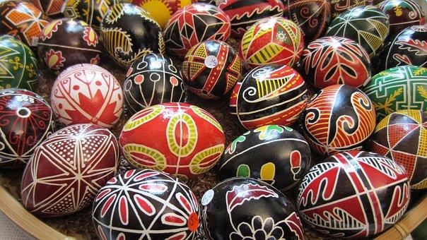 Easter Egg, Customs, Color, Painted, Artwork, Sorbian