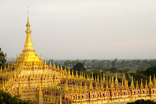Temple, Gold, Asia, Buddhism, Southeast, Burma, Buddha
