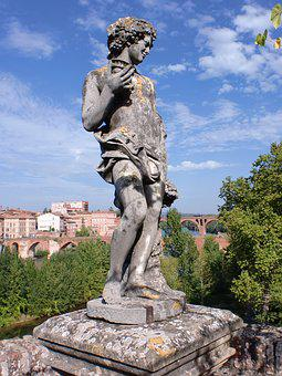 Statue, Albi, France, Landscape, History, Classical