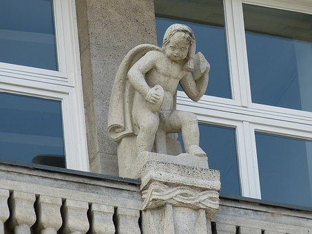 Hamburg, Hanseatic City, Window, Sand Stone, Sculpture