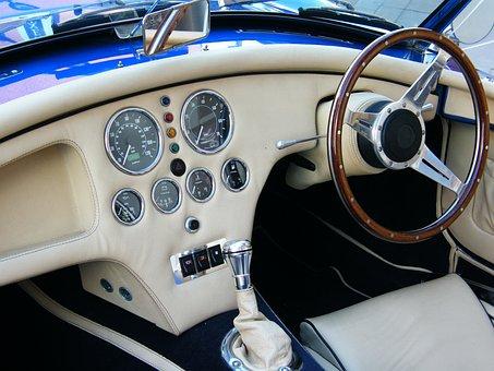 Car, Interior, Classic, Vehicle, Automobile, White