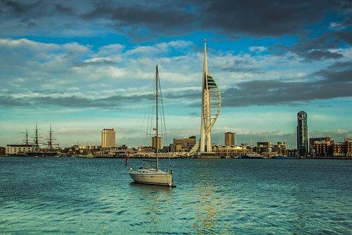 Spinnaker Tower, Of The Sea, Tower, Landmark, Harbour