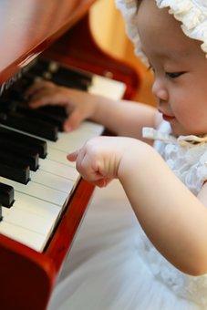 Piano, Baby, Girl, Musician