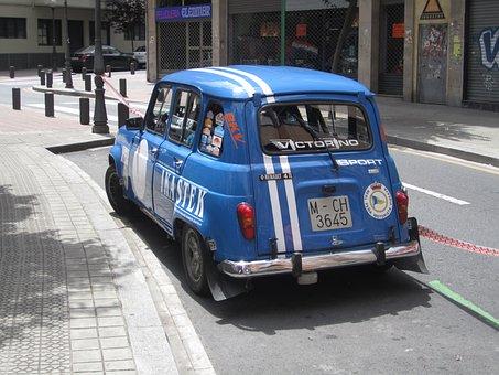 Car, Vintage, R4, Renault
