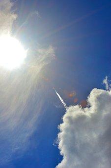 Rocket, Spacex, Falcon 9, Launch, Sun, Space, Spaceship