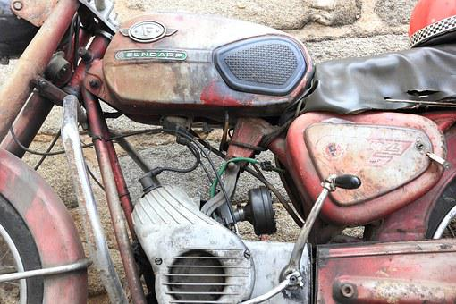 Portugal, Evora, Moped, Zundapp, Old, Rusty