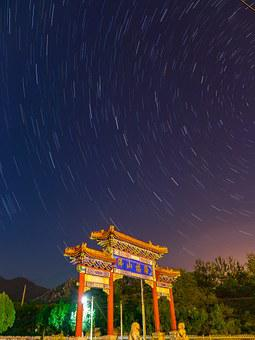 Astronomy, China Town, Sky, Scene, Chinese, Asian