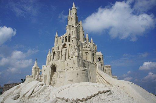 Castle, Sand, Sculpture, Art, Scheemda