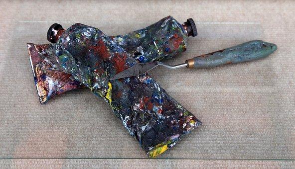 Oil Paint, Painter Utensils, Color Tube, Tube, Spatula
