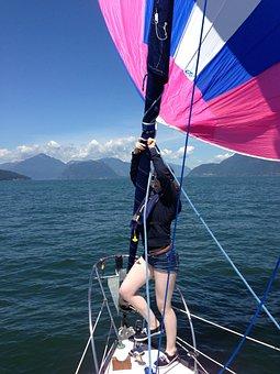 Sailing, Ocean, Sailboat, Spinnaker, Gennaker