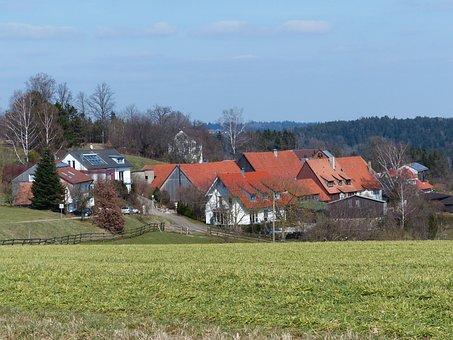 Village, Southern Germany, Swabian Alb, Lindenbronn