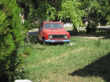 Auto, Old, Verrotest, Retired, Scrap, Renault, R4