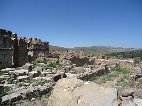 Ruin, Djemila, Caracalla, Roman, Ancient, Algeria