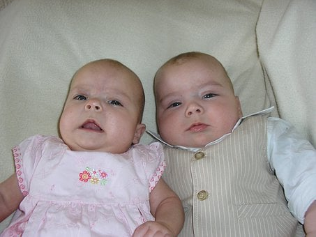 Twins, Babies, Siblings, Infants, Newborn, Boy, Girl