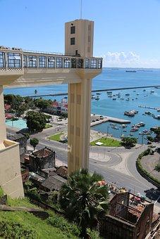 Salvador, Bahia, Brazil, Lift Lacerda, Sky, Blue
