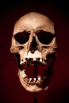 Skull, Skull And Crossbones, Death, Bone, Crypt