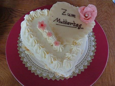 Mother's Day, Cake, Marzipan, Rose, Sweet, Buttercream
