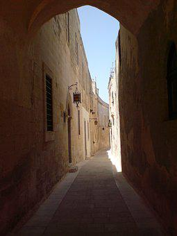 Malta, Alley, Castle Trail, Path, Gozo, Medina