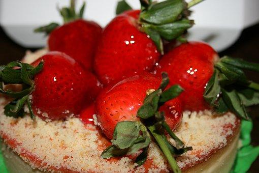 Cake, Strawberry, Sweet, Cheesecake, Gastronomy, Food