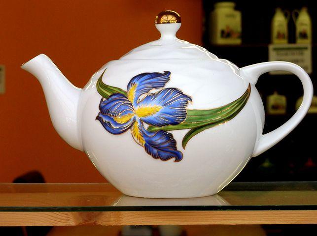 Tea, Teapot, White, Color, Shelf, Closeup, Ceramic